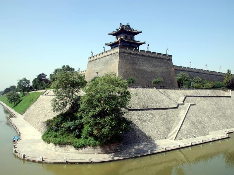 西安城墙手绘