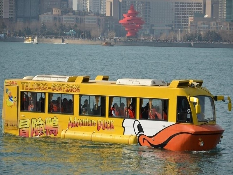 青岛冒险鸭水陆观光巴士