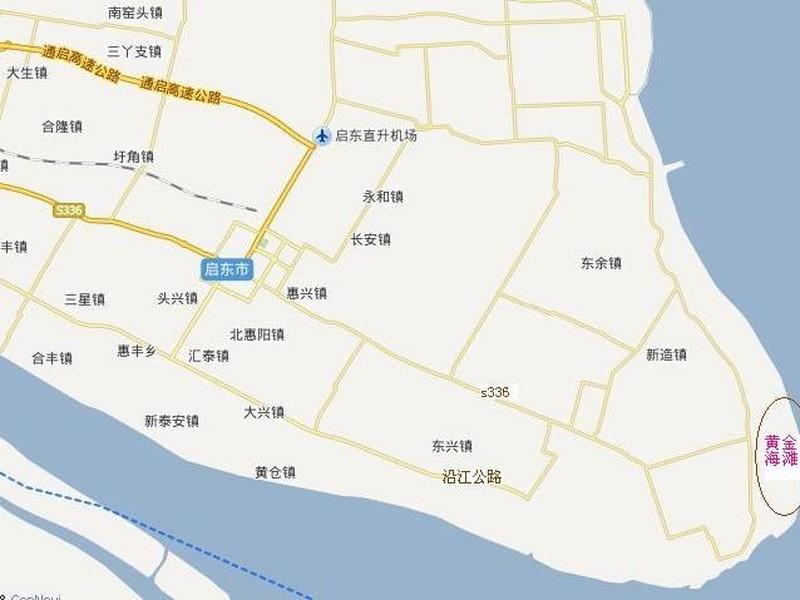 南通启东的地图