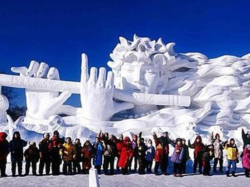 【长阳冰雪节图片】长阳冰雪节风景图片
