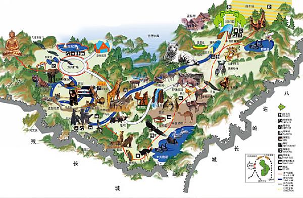 北京动物园海洋馆平面图